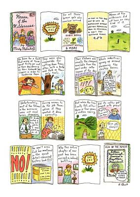 Wilderness Drawing - New Yorker February 25th, 1991 by Roz Chast