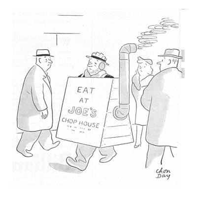 Sandwich Drawing - New Yorker February 26th, 1944 by Chon Day