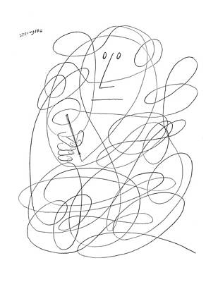 Doodles Drawing - New Yorker February 27th, 1954 by Saul Steinberg
