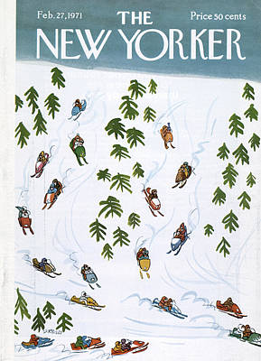 Race Painting - New Yorker February 27th, 1971 by Donald Reilly