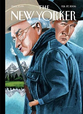 Dick Cheney Painting - New Yorker February 27th, 2006 by Mark Ulriksen