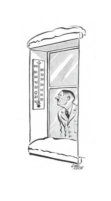 Barometer Drawing - New Yorker February 28th, 1942 by Carl Rose