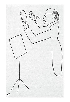 Drawing - New Yorker February 2nd, 1957 by Saul Steinberg
