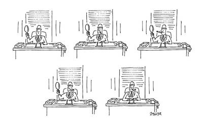 Decide Drawing - New Yorker February 2nd, 1987 by Jack Ziegler