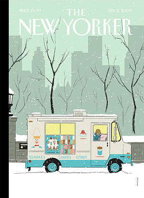 Winter Painting - New Yorker February 2nd, 2009 by Adrian Tomine