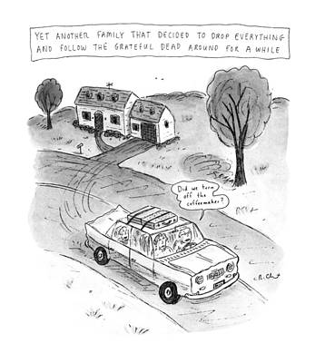 The Grateful Dead Drawing - New Yorker February 3rd, 1992 by Roz Chast