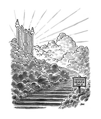 Religion Drawing - New Yorker February 3rd, 1997 by John Jonik