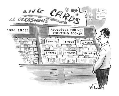 Store Fronts Drawing - New Yorker February 3rd, 1997 by Mike Twohy