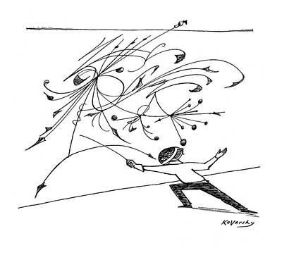 Art Mobile Drawing - New Yorker February 5th, 1955 by Anatol Kovarsky
