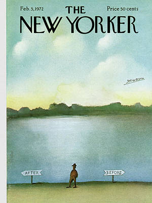 Another Painting - New Yorker February 5th, 1972 by Saul Steinberg