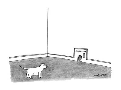 Mousehole Drawing - New Yorker February 5th, 1990 by Mick Steven
