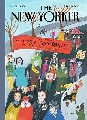 Parade Wall Art - Painting - New Yorker February 5th, 2001 by Maira Kalman
