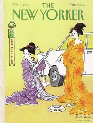 Fashion Painting - New Yorker February 6th, 1989 by J.B. Handelsman