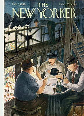 Performance Painting - New Yorker February 7th, 1948 by Constantin Alajalov