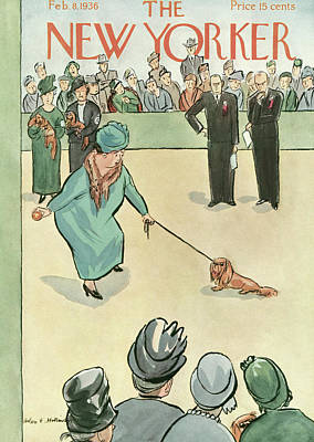 Contest Painting - New Yorker February 8th, 1936 by Helen E. Hokinson