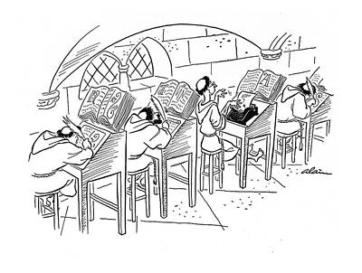 Typewriter Drawing - New Yorker February 8th, 1941 by  Alain