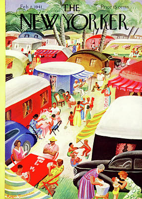 Trailer Painting - New Yorker February 8th, 1941 by Roger Duvoisin