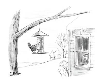 Coins Drawing - New Yorker February 8th, 1988 by Warren Miller