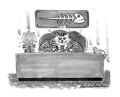 Triumph Drawing - New Yorker February 8th, 1993 by Bernard Schoenbaum