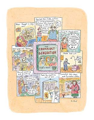 Gaga Drawing - New Yorker February 8th, 1999 by Roz Chast