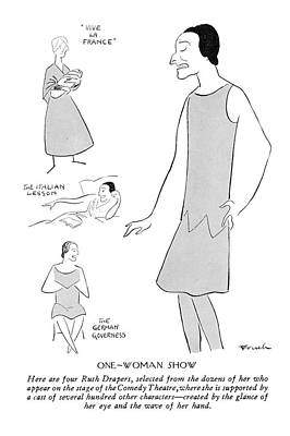 Selecting Drawing - New Yorker February 9th, 1929 by Alfred Frueh