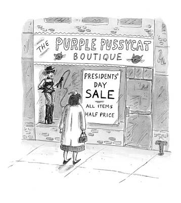 President Drawing - New Yorker February 9th, 1998 by Roz Chast