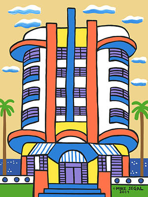 Painting - New Yorker Hotel-miami Beach by Mike Segal