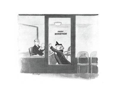 Debt Drawing - New Yorker January 10th, 1942 by Mischa Richter
