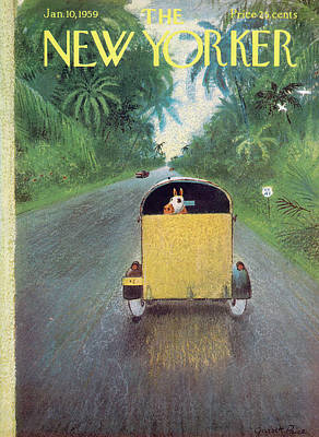 Carriage Driving Painting - New Yorker January 10th, 1959 by Garrett Price