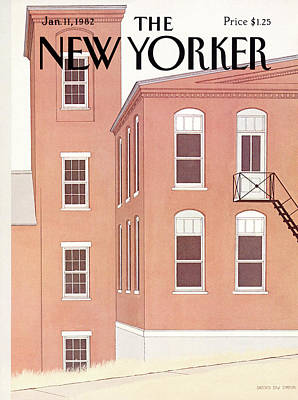 Simpson Painting - New Yorker January 11th, 1982 by Gretchen Dow Simpson