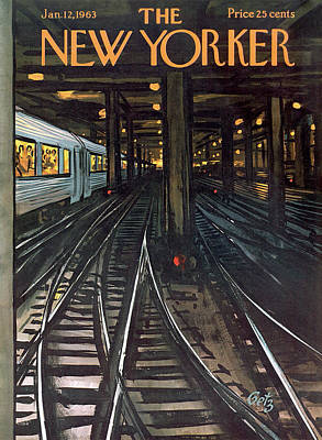 Express Painting - New Yorker January 12th, 1963 by Arthur Getz