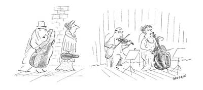 2 Drawing - New Yorker January 12th, 1987 by Jean-Jacques Sempe