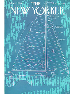 Information Painting - New Yorker January 13th, 1962 by Charles E. Martin