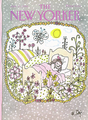 Sleep In Painting - New Yorker January 13th, 1986 by William Steig