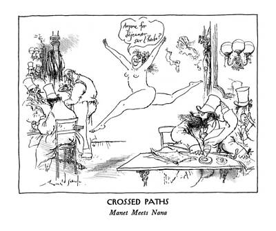 Nana Drawing - New Yorker January 13th, 1992 by Ronald Searle