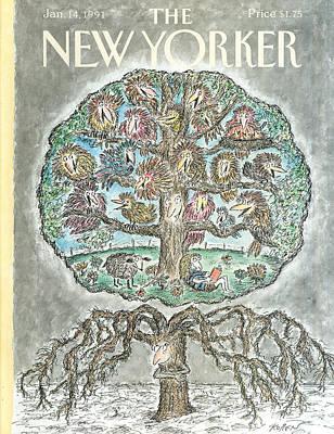 New Yorker January 14th, 1991 Art Print