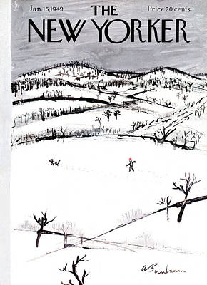 Winter Painting - New Yorker January 15th, 1949 by Abe Birnbaum