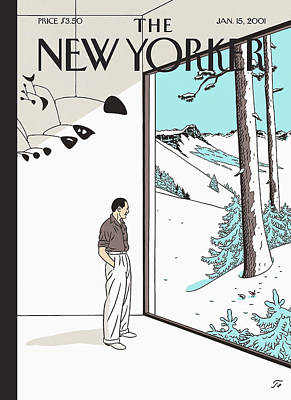 2001 Painting - New Yorker January 15th, 2001 by Jean Claude Floc'h