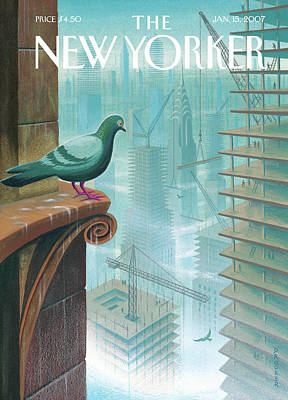 New Yorker January 15th, 2007 Art Print