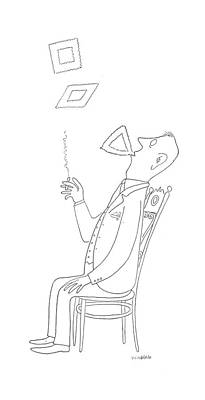 Boredom Drawing - New Yorker January 16th, 1943 by Saul Steinberg