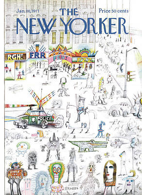 New Yorker January 16th, 1971 Art Print