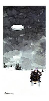 Winter Sports Drawing - New Yorker January 16th, 1995 by Gideon Amicha