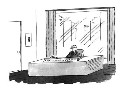 Potato Drawing - New Yorker January 16th, 1995 by Mick Steven
