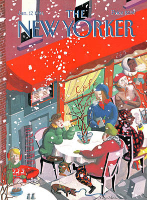 Kathy-osborn Painting - New Yorker January 17th, 1994 by Kathy Osborn