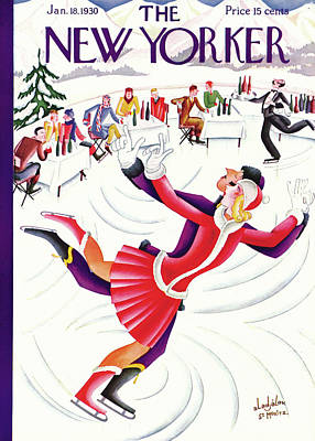 Flashy Painting - New Yorker January 18th, 1930 by Constantin Alajalov