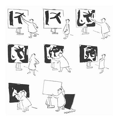 Paint Drawing - New Yorker January 18th, 1958 by James Stevenson