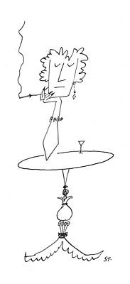 New Yorker January 18th, 1958 Art Print by Saul Steinberg