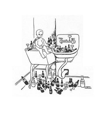 Christina Drawing - New Yorker January 1st, 1938 by Christina Malman