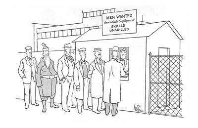Factory Drawing - New Yorker January 1st, 1944 by George Price