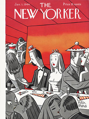 New Years Eve Painting - New Yorker January 1st, 1944 by Peter Arno